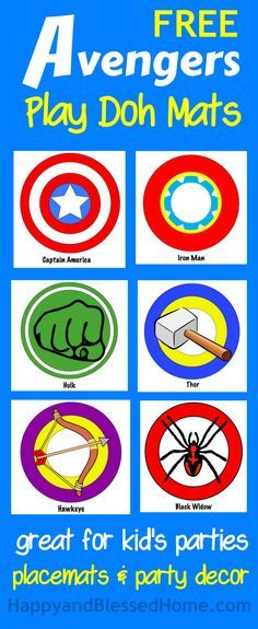 FREE Avengers printables and New Avengers Super Heroes Assemble App