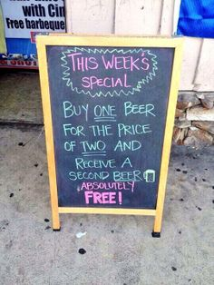 Funny beer sign!