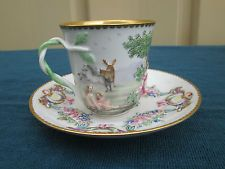 COL YS: ANTIQUE 19th C CAPODIMONTE CUP AND SAUCER