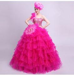 d0ac348914db Flamenco dresses for women female lady Spanish bull dance opening chorus  singers ballroom performance cosplay outfits