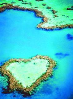 Heart Reef, The Whitsundays, Australia   心型堡礁,降靈島,澳洲