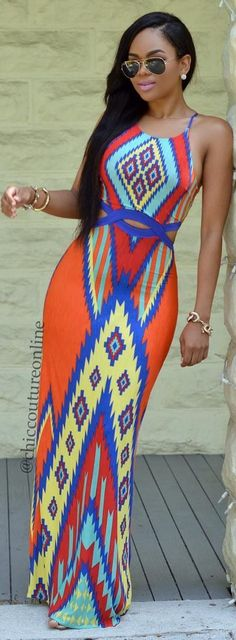 Lovely Print Dress by @chiccoutureonline