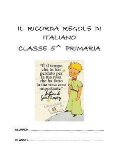 IL RICORDA REGOLE DI ITALIANO CLASSE 5^