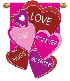 Valentineu0027s Day Garden Flag