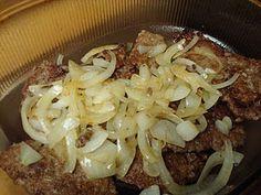 Cube Steak Recipe. Use white wheat flour instead of all purpose. Use organic cream of mushroom soup and organic corn meal.