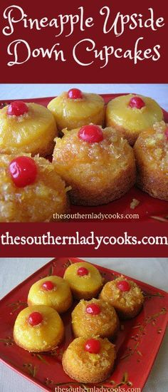 Pineapple Upside Down Cupcakes   can  use EITHER pineapple rings or crushed.  I have done this with crushed and added cherry to cup before add cake.