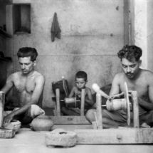 Henri Cartier-Bresson, INDIA. Rajasthan. Jaipur. Stone polishing.