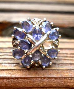 Vintage Iolite Ring Sterling Silver Violet by RenaissanceFair