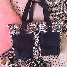 by Ma@g🧵 sur Instagram: Un sac sympa suivant le patron boléro de Sacôtin avec du tissu jacquard ethnique de mondial tissus. Il y a plein de poches, j'adore…
