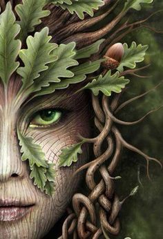 The Significance of Green Green has been known for untold ages as the colour of the fairy. Green was so universally recognised, as the colour of the fairy that many in Scotland refused to wear it a… Fantasy Kunst, Fantasy Drawings, Celtic Art, Celtic Fantasy Art, Celtic Dragon, Fairy Art, Colouring Pages, Coloring Books, Tree Art