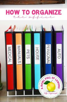 Get organised with different folders to store manuals, house, car and medical paperwork.