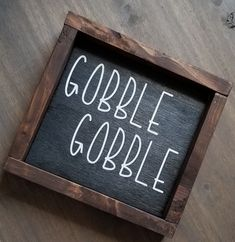Excited to share the latest addition to my shop: Gobble Gobble, Thanksgiving Sign, Fall Sign, Thanksgiving Signs, Thanksgiving Decorations, Rustic Thanksgiving Decor, Holiday Decorations, Seasonal Decor, Thanksgiving Chalkboard, Kitchen Decorations, Thanksgiving Parties, Table Decorations