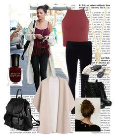 """Get The Look: Selena Gomez"" by madgraf ❤ liked on Polyvore featuring Miss Selfridge, Elizabeth and James, MANGO, PARENTESI, Deborah Lippmann, women's clothing, women, female, woman and misses"