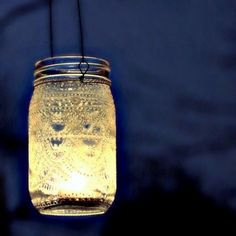 Lanterna da appendere - Lanterne fai da te sospese per illuminare un gazebo.