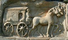 Bas-relief of a Roman carriage Roman History, Art History, Ancient Rome, Ancient History, Roman Technology, Roman Currency, Art Romain, Roman Roads, Rimini Italy