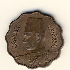 Egypt 1943 AU+ Farouk 10 milliemes