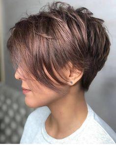 40 Cute Short Haircuts for Women 2019 - Short hairstyles for many women have a v. - 40 Cute Short Haircuts for Women 2019 – Short hairstyles for many women have a very fine hair str - Cute Short Haircuts, Haircuts For Fine Hair, Short Hairstyles For Women, Hairstyles Haircuts, Bob Haircuts, Haircut Short, Pixie Haircut Fine Hair, Pixie Cut Thin Hair, Asymmetrical Pixie Haircut