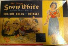 DISNEY-039-S-SNOW-WHITE-1938-VINTAGE-CARTOON-PAPER-DOLL-CUT-OUTS