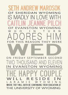 Wedding Announcement courthouse wedding invite idea postcards