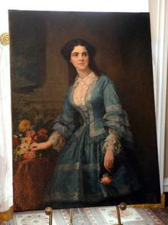The portrait of Mary Cowper Stiles Low, which was painted shortly after her marriage to Savannah's Andrew Low, was acquired in England and has been returned to the Andrew Low House Museum for display.  Richard Burkhart /Savannah Morning News