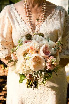 Gorgeous bouquet... gorgeous mature bride!