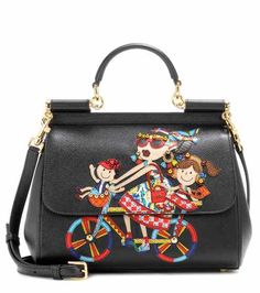 Sicily Medium embellished leather shoulder bag | Dolce & Gabbana