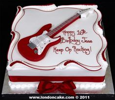 Guitar cake for a teen