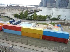 PHOTOS: Colorful New Pop-Up Pool and Beach Open at Brooklyn Br...