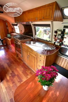 Airstream 3 Seating and Kitchen Area | Airstream 3 | Silver Stage Event Structures | Flickr