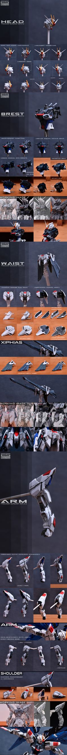 [Infinite_Dimension] 1:100 프리덤 2.0 컨버전킷(레진), 공식 도색 작례 공개! : 네이버 블로그 Plastic Model Kits, Plastic Models, Gundam Head, Gundam Tutorial, Gundam Custom Build, Fantasy Concept Art, Gunpla Custom, Mecha Anime, Robot Design