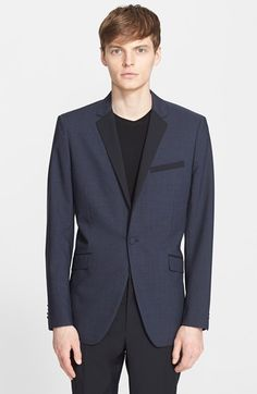 Men's Theory 'Wellar' Trim Fit Wool Dinner Jacket