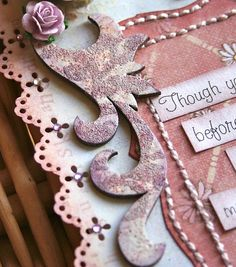 Chipboard Alteration - Glimmer Glam & Embossing. Supplies Needed: (Sorry I forgot to take a photo of the supplies) - Chipboard element - Acrylic Paint - Glimmer Glam - Paintbrush - Heat tool - Distress embossing powder (or regular embossing powder) - Distress Ink - Clear embossing ink - Stamp - Water - Paper towel - Glimmer mist - Ink pad
