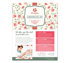Nail Spa Center Flyer Template http://www.dlayouts.com/template/843/nail-spa-center-flyer-template