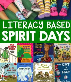 It seems like most school usually plan at least one or two spirit weeks per year but coming up with spirit day ideas can be daunting. So here is a list of literacy spirit day ideas to help you think o