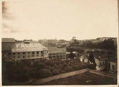 1919 - Teatro Casino Antártica na rua Anhangabaú, utilizado em 1919 como sede da indústria de chocolates Falchi.