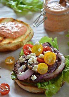Greek Veggie Burger