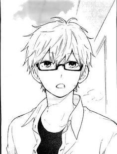 Hibi Chouchou Manga Boy, Anime Boys, Hibi Chouchou, Handsome Boys, Coloring Pages, Butterfly, Black And White, Comics, Cute