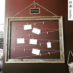 What a great idea! I would love to do something like this as a craft project at home for prayer requests. (You Are My Favorite Prayer Request) Prayer Wall, Prayer Room, Prayer Board, Info Board, Youth Group Rooms, Prayer For Church, Kids Prayer, Shabby Chic Accessories, Sunday School Rooms
