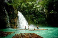 Kawasan Falls...easy trek, beautiful sights, -- and a refreshing swim :-)