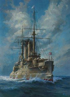 Russian battleship Tsesarevich- Not WWII, but I like it none the less