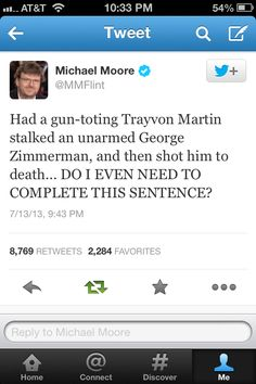 No, Michael Moore.  You do not.  Because we know exactly what you mean.