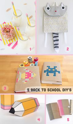 Back to School DIY's and cute packing ideas