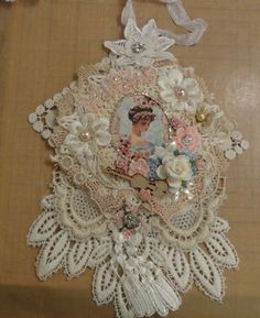 Doily Wall Hanging - Flower Girl - Photo #1
