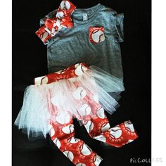 Custom Design Pocket Shirt Tutu Leggings and by PickeeKids on Etsy