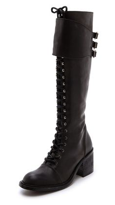 001dae5b8a44 Jeffrey Campbell Tall Combat Boots Black Combat Boots