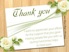 Funeral Thank You Notes Messages Greetings and Wishes  Messages Wordings and Gift Ideas