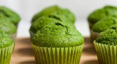With the help of the mashed banana and the cinnamon, you can't even taste the spinach. You're kids will never know. They will simply be a Green Muffin to them. And isn't that just all the more enticing to a child?