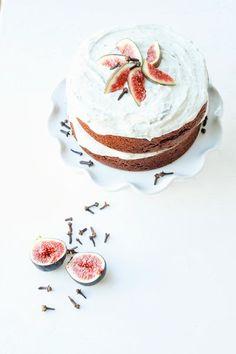Natural+Lovely: Harvest Spice Cake + Sweet Fig Crème