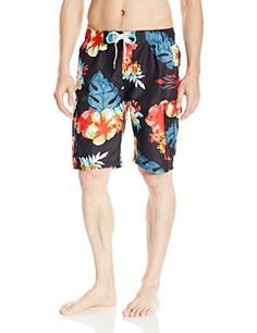 2890dd497 Introducing Kanu Surf Mens Papagayo Floral Swim Trunk Black Large. Grab Your  Swimsuits Here and