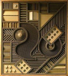 Corrugated cardboard art by Mark Langan Cardboard Relief, Cardboard Paper, Paper Clay, Street Art Utopia, 3d Street Art, Cardboard Sculpture, Recycled Art, Wall Sculptures, Sculpture Ideas